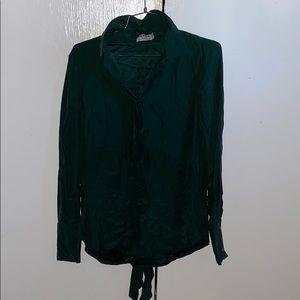 Frame Denim Shirt Women's Buttoned Shirt (SMALL)